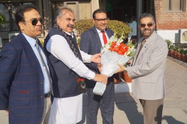 Mr. Muhammad Adrees, CEO Sitara Chemicals with Mr. Faisal Rasheed -Member of UK Parliament during his visit to SCIL on 23-02-2019