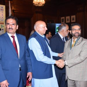 Mr. Muhammad Adrees CEO Sitara Chemicals receiving the FPCCI Award  from Governor Punjab Ch. Muhammad Sarwar at Lahore on 07-08-19